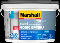 Краска водоэмульсионная MARSHALL EXPORT-7 мат.латексная BW 2,5л