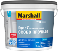 Краска водоэмульсионная MARSHALL EXPORT-7 мат.латексная BC 4,5л
