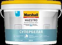 Краска водоэмульсионная MARSHALL MAESTRO Белый потолок люкс 2,5л