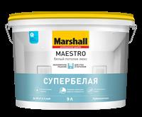 Краска водоэмульсионная MARSHALL MAESTRO Белый потолок люкс 9л
