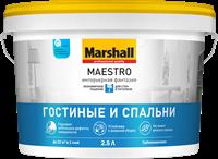 Краска водоэмульсионная MARSHALL MAESTRO Интерьерная фантазия BW 2,5л