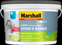 Краска водоэмульсионная MARSHALL д/кух.и ван.латексная 2,5л 5183646