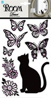 Элемент декоративный ROOM DECOR Кошечка с бабочками-мини PLA 3402