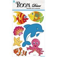 Элемент декоративный ROOM DECOR Рыбки голограмма RKA 2952