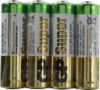 Элемент питания GP 15ARS-2SB4 Super целлофан 4шт