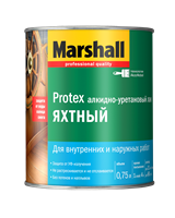 Лак MARSHALL PROTEX Яхтный полуматовый 0,75л 5255241
