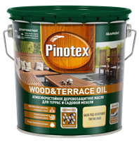 Масло PINOTEX деревозащитное Wood&Terrace Oil  Бесцветный 2,7л 5220309
