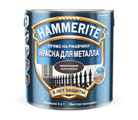 Краска Hammerite молотковая Коричневая 2,2л 5272638