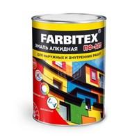 Эмаль FARBITEX ПФ-115 красная 0,8кг алкидная