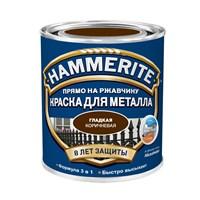 Краска Hammerite гладкая Коричневая 0,75 л 5093875