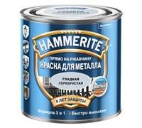 Краска Hammerite гладкая Серебристая 2,5 л 5094032