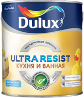 Краска Dulux Ultra Resist Кухня и ванная полуматовая 2,5л 5239230