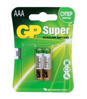 Батарейки GP SUPER мизиньчиковые (ААА) 2шт (блистер)