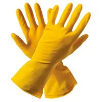 Перчатки резиновые пара размер S 6-6,5 желтые