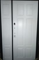 Дверь металлическая Кардинал белая без патины 960*2050 левая