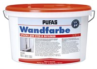 Краска PUFAS Wandfarbe для стен и потолков 1x10 л