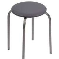 Табурет круглый Стелла серый Р841