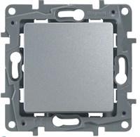 Выключатель LEGRAND Etika 1клав 10A 250В (алюминий) 672401
