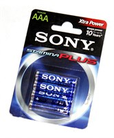 Батарейка SONY LR3/4 Alkaline Stamina Plus AAА 4шт AM4B4D