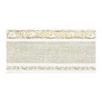 Карниз Бленда с молдингом Ажур 68мм цвет 04 Кожа на белом (60м)