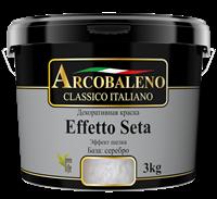 Краска декоративная РАДУГА Arcobaleno Effetto Seta База серебро (3кг)