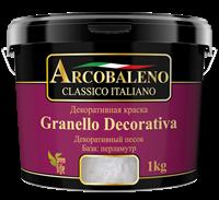 Краска декоративная РАДУГА Arcobaleno Granello Decorativa База перламутр (1кг)