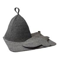 Набор Hot Pot из трех предметов (шапка.коврик,рукавица) серый 41184