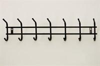 Вешалка для одежды 7 крючков (черный муар)