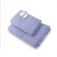 Полотенце махровое ВАСИЛИСА гл/кр Буржуа Нуво (Bourgeois Nouveau) 45х90 сер Lavender Grey 100% хл.