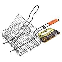 Решетка-гриль BOYSCOUT универсальная с антипригарным покрытием (картонный веер в ПОДАРОК) 57(+5)x30x