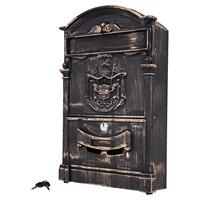 Ящик почтовый АЛЛЮР №4010В старая бронза (5)