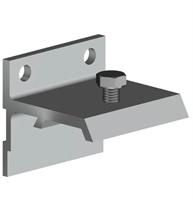 Скоба для направляющей H2 к стене для дверей до 45мм. арт.219-043