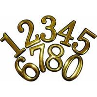 Цифра для обозначения номера квартиры 1, металлическая, золото 67291