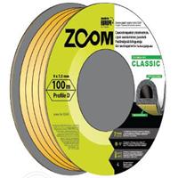 Уплотнитель P черный CLASSIC 100м ZOOM 8143