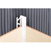 Раскладка LINEPLAST под кафель наружная  мрамор кремовый 11-12 мм ELRVТ01-12А