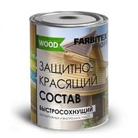 Состав FARBITEX защитно-красящий для древесины быстросохнущий бесцветный 0,8л FПW