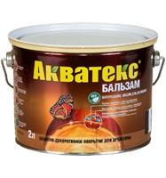 Средство натуральное для древесины Акватекс-бальзам бесцветный 2л
