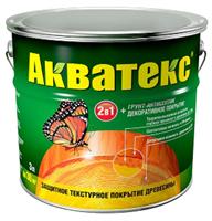 Средство РОГНЕДА АКВАТЕКС защитно-декоративное покрытие 2в1 орех 3л