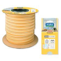 Уплотнитель MAKO P-образный из резины, всепогодный 4ммх5,5ммх100м белый 881500