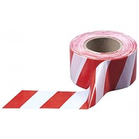 Лента сигнальная бело-красная 50мм*150м 49-7-200