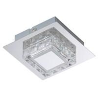 Светильник BRILONER NOBLE светодиод, металл-стекло, 1хLED/GU10 3W 250lm 3000K, 100x100x54мм 3549-018