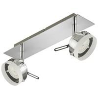 Спот BRILONER CLICK светод, металл-стекло/хром, 2хLED/5W 400lm 3000K, повор.IP20, 320x80 2807-028