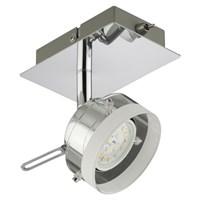 Спот BRILONER CLICK светодиод, металл-стекло, 1хLED/5W 400lm 3000K, поворотн, 120x80x110мм, 2807-018