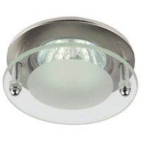 Светильник ЭРА KL15 SN литой с круглым стеклом MR16 12V 50W сатин