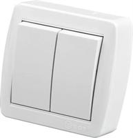 Выключатель Ainur EGP белый х2 900-0200-202