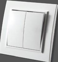 Выключатель ZERA EGP кремовый х2 с/п 700-0300-203