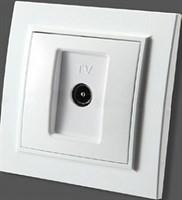 Розетка TV ZERA EGP белый 700-0200-224
