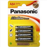 Батарейка PANASONIC щелочная Alkaline Power Promo pack AAА/4B