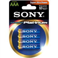Батарейка SONY LR3 Alkaline Platinum AAА 4шт AM4PTB4D
