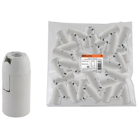 Патрон Е14 подвесной бел. (пластик) 0335-0009 TDM
